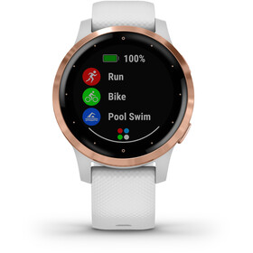Garmin Vivoactive 4S Reloj Inteligente, white/rose gold